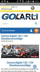 GOKarli App Streckenvorschläge