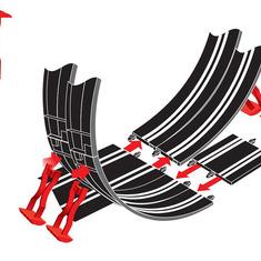 Carrera GO!!! Plus Looping mit neuen Stützensystem, ohne Schienenverbinder.