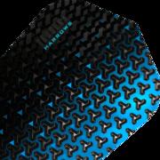 Harrows Tessera Dart Flight Dartflight speziell laminiert Blau