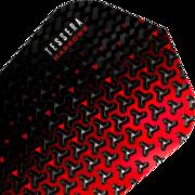 Harrows Tessera Dart Flight Dartflight speziell laminiert Rot