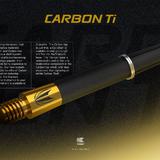Target Carbon Titanium Pro Shaft Gold und Spare Top, Ersatztop