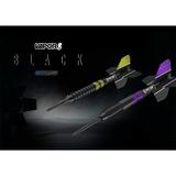 Target Steel und Softdarts Vapor 8 Black Purple - Yellow 80% 2018 in 6 unterschiedlichen Gewichten