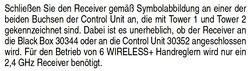 Carrera Digital 124 /132 Controll Unit mit Receiver Anschluss Anleitung Texterklärung