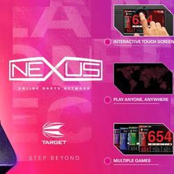 Target Dart Nexus Dartboard, Interaktiver Touch Screen, Live Kamera & Ton, Spiel überall und mit jedem, Solide Konstruktion, Viele Spiel- Varianten