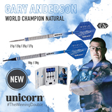 Unicorn World Champion Natural Phase 3 Gary Anderson Steel und Soft Dart Steeldart 2018