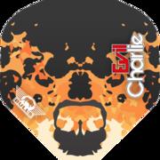 BULL'S Powerflite P Std. Karel Sedlacek Evil Charlie Flights Dartflight Hellfire Design 1 Art.Nr. 510.BU-50861