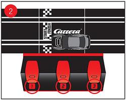 Carrera Digital 143 2.4 GHz Wireless+ Plus Anschlussschiene mit drei Programierplätzen