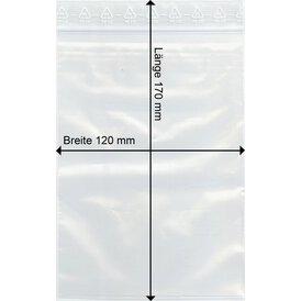 GOKarli Druckverschluss Beutel 120 x170 mm 100 Stück