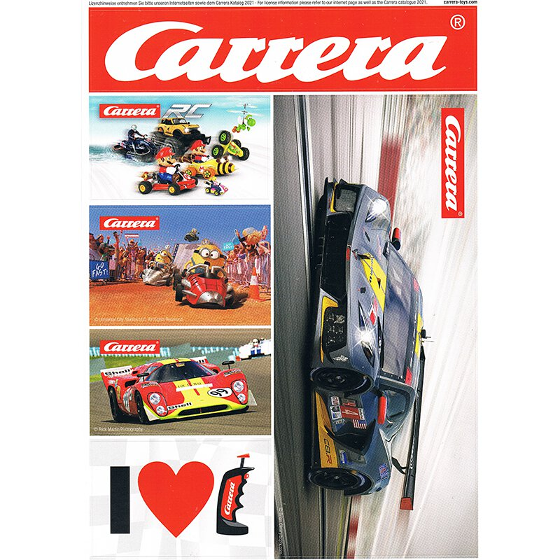 für Carrera Digital 30 cm z.B CARRERA SLOTCAR Bande Aufkleber Bogen 50