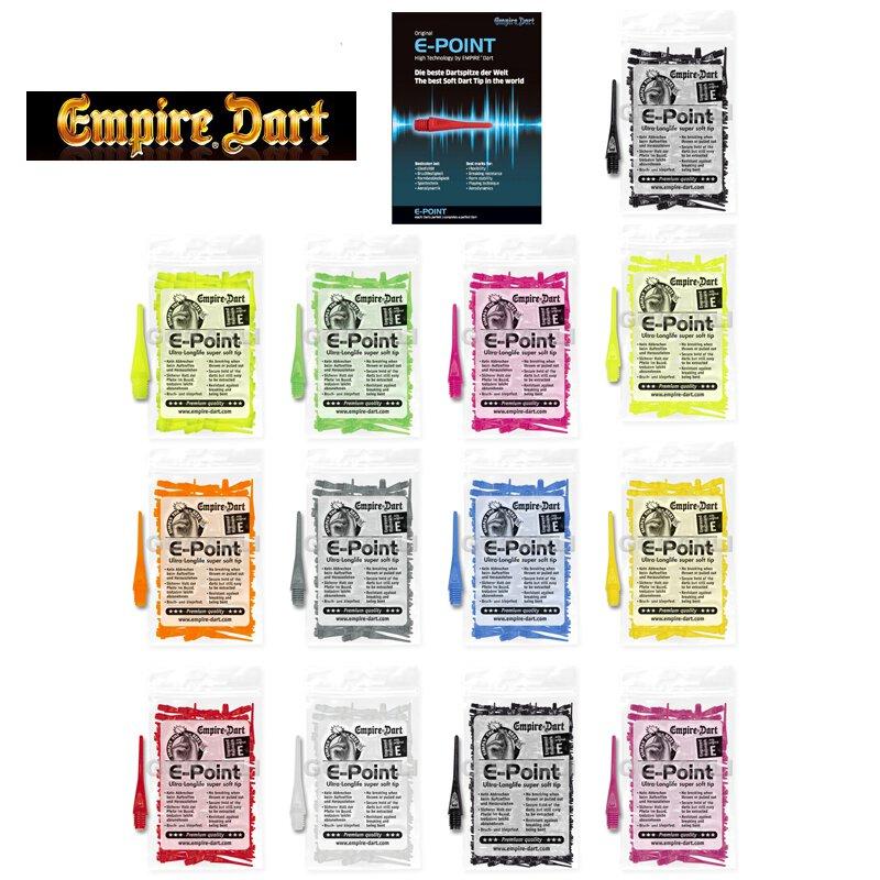 "500 EMPIRE E-Point Soft Dart Spitzen Dartspitzen Dartpoints Points BSF 1//4/"" lang"