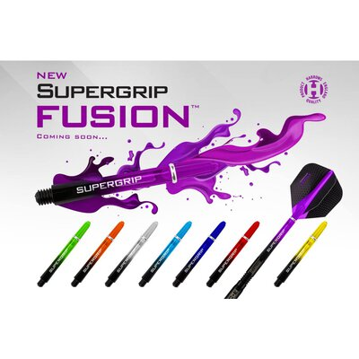 Harrows Supergrip Fusion Shaft mit Ring S Kurz Rot