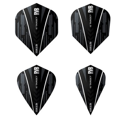 Target Rvb Ultra Ghost Dart Flights verschiedene Flightformen - Flight Shape Schwarz / Sliber Design 2017