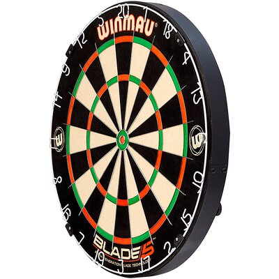 Winmau Blade 5 Bristle Dart Board und Surround Rot incl.Target Phil Taylor Steeldart 200260 - 200280 Starter Pack