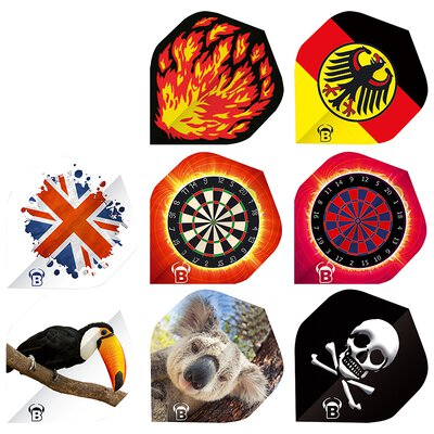 BULLS Motex Dart Flights Standard A-Shape in verschiedenen Designs