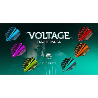 Target Voltage Vision Ultra Dart Flight in 6  Farben 4 Flightformen / Shapes Neu 2018