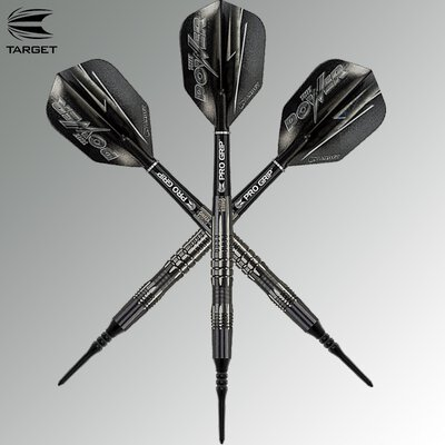 Target Soft Darts Phil Taylor Power 8zero Black Titanium Softtip Dart Softdart
