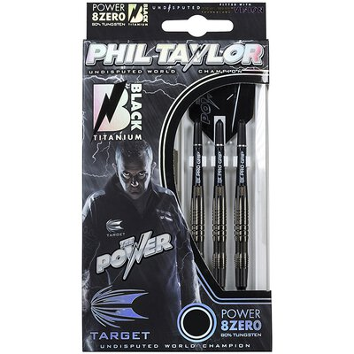 Target Soft Darts Phil Taylor Power 8zero Black Titanium Softtip Dart Softdart 20 g