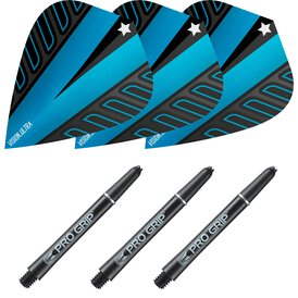 Target Rob Cross Pro Grip Shaft M Medium Schwarz und...