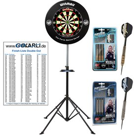 Winmau Blade 5 Dual Core Bristle Dart Board und Surround...