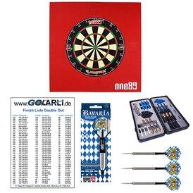 one80 Gladiator 3 Dart Board  mit Surround rechteckig Rot...