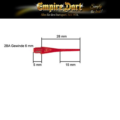 Empire® Dart E-Point® Ultra Longlife Dartspitzen lang Softtips Soft Tips long Neon Grün 500 Stück