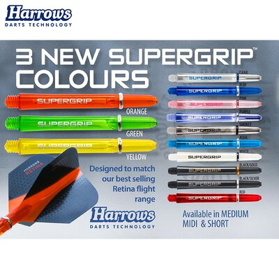 Harrows Supergrip Shaft mit Ring S Kurz Schwarz/Gold