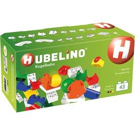 Hubelino Kugelbahn Weiche Ergänzung 43 Teile Duplo...