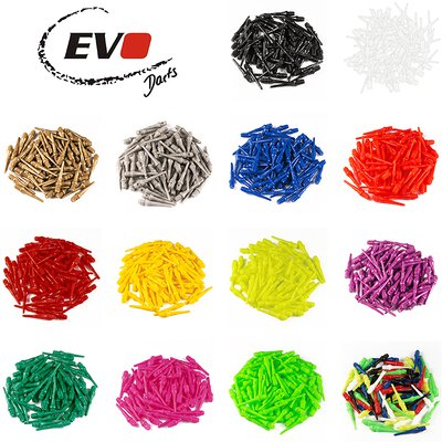 Evolution Original EVO Dartspitzen 2BA lang Softtips Soft Tips long Blau 100 Stück