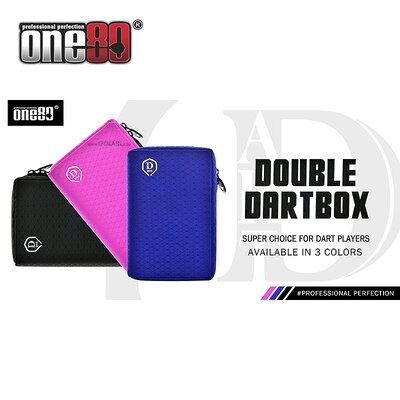 one80 Dart Double Dartbox Dart Chase Box alle Farben