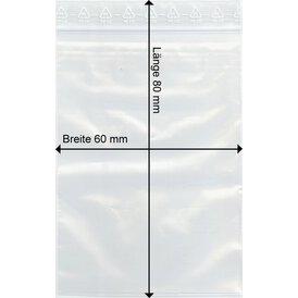 GOKarli Druckverschluss Beutel 60 x 80 mm
