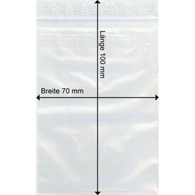 GOKarli Druckverschluss Beutel 70 x100 mm