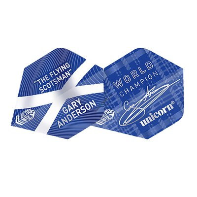 Unicorn Ultra Fly 100 Gary Anderson Flights verschiedene Flightformen - Flight Shape