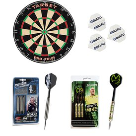 Target Bristle Board Pro Tour Dart Board mit 3 Phil...