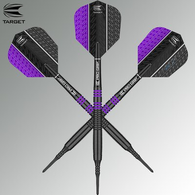 Target Soft Darts Vapor8 Black Purple 2018 Softtip Darts Softdart 18 g