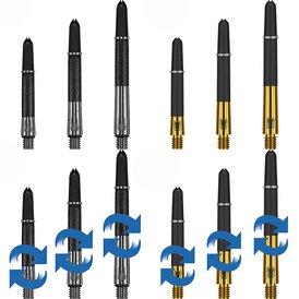 Target Carbon Titanium Gold und Silber Shafts Schaft