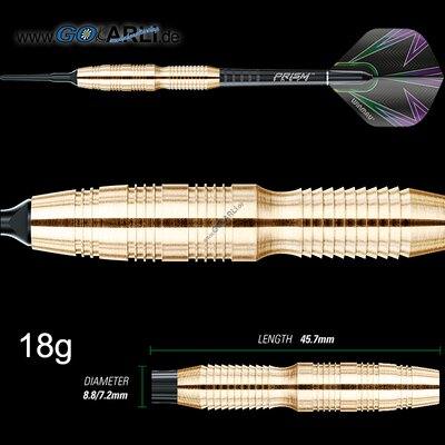 Winmau Soft Darts Simon Whitlock Brass Messing Softtip Dart Softdart 18 g