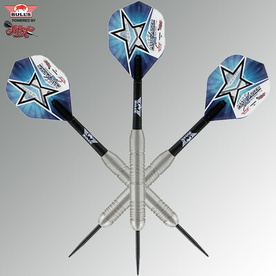 BULLS Steel Darts Bull´s powered by Shot Darts Max Hopp Stainless Edelstahl Steeltip Darts Steeldart 21 g