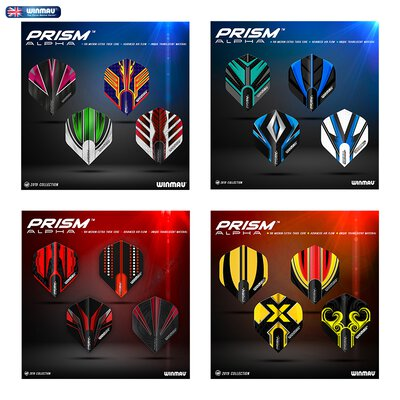 Winmau Prism ALPHA Dart Flight Generation 2 in verschiedenen Designs 2019