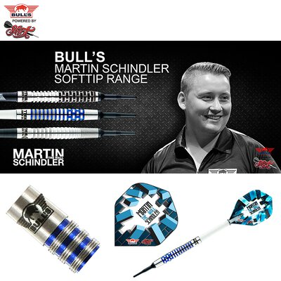 BULL´S Soft Darts Bull´s powered by Shot Darts Martin Schindler The Wall 80% PCT Color Blue Softip Darts Softdart