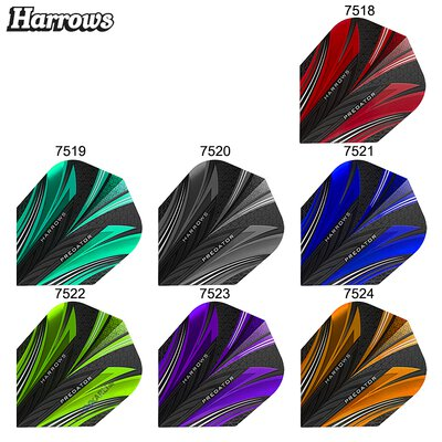 Harrows Predator Prime Dart Flight Blau