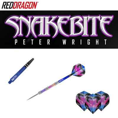 Red Dragon Steel Darts Peter Wright Snakebite Rainbow Mamba Steeltip Dart Steeldart