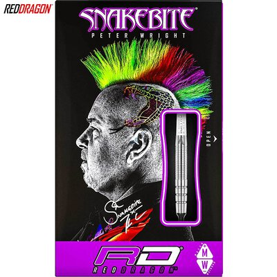 Red Dragon Soft Darts Peter Wright Snakebite PL15 Silver Softtip Dart Softdart 18 g