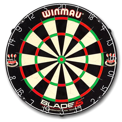 Premium Set Winmau Blade 5 Bristle Dart Board und Surround Schwarz incl.Target Phil Taylor & Rob Cross Steeldarts GOKarli Flights Starter Pack