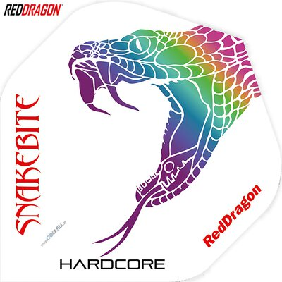 Red Dragon Peter Wright Hardcore Snakebite Flight Pack Dart Flight verschiedene Flightformen - Flight Shape
