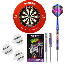 Winmau Blade 5 Dart Board und Surround Rot incl.Red...