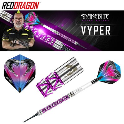 Red Dragon Soft Darts Peter Wright Snakebite Vyper Softtip Dart Softdart 2019