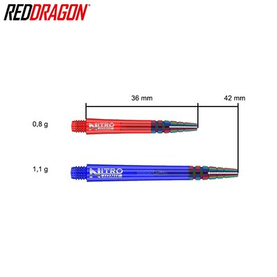 Red Dragon Nitrotech Ionic Shaft Schwarz M Mittel