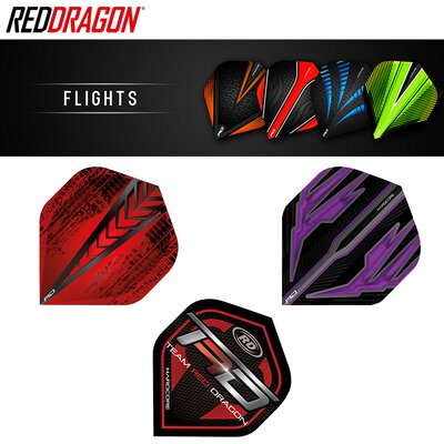 Red Dragon Hardcore Flights Dart Flight Jamie Lewis Rot F6335