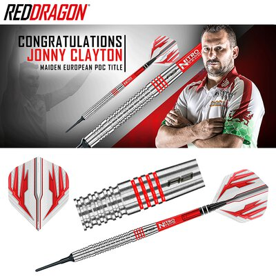 Red Dragon Soft Darts Jonny Clayton The Ferret 90% Tungsten Softtip Dart Softdart 2019