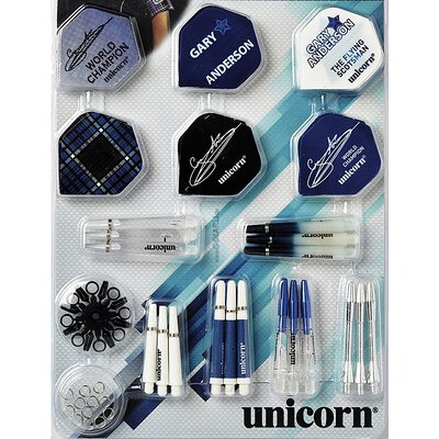 Unicorn Gary Anderson 64 teiliges Tune-Up Kit Accessory 64 Piece Shaft & Flights Set